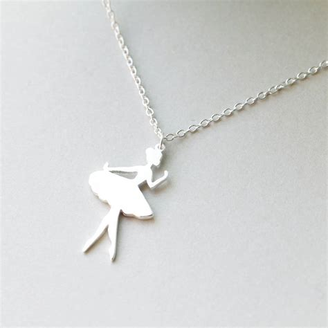 Ballerina Pendant Necklace sterling silver ballerina necklace by attic