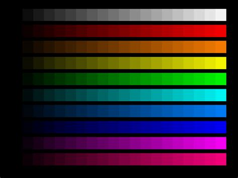 color pattern quiz color bar generator