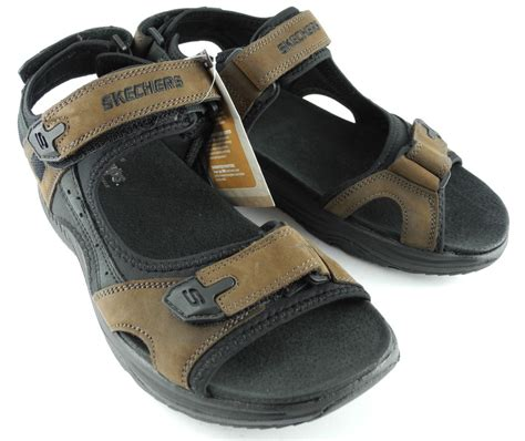 mens skechers sandals mens skechers shape ups leather keep fit fitness sports