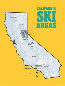ski california map california ski resorts map 18x24 poster 403 by bestmapsever