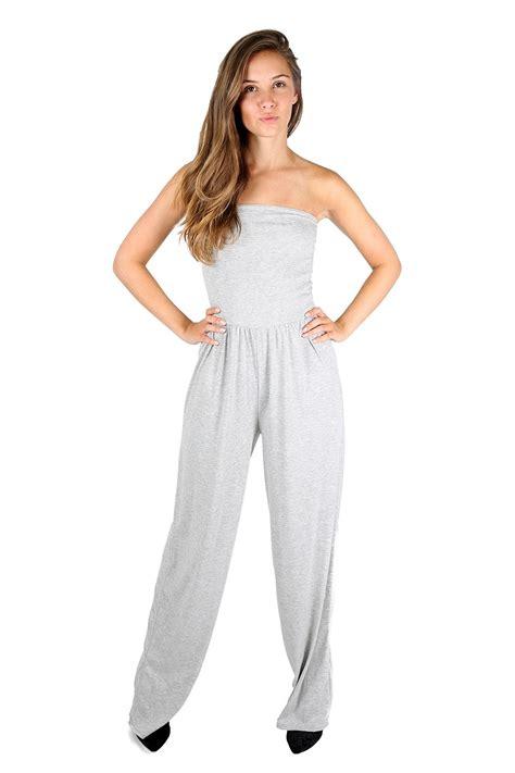 ebay jumpsuit women ladies wide leg palazzo casual boobtube rompers