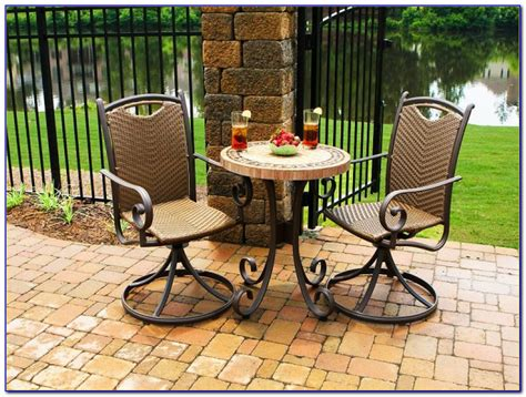 bistro patio sets bar height patios home decorating