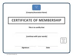 membership templates certificate of membership template free microsoft word