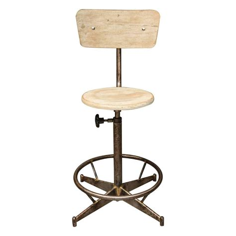 Light Stools by Light Wood Adjustable Industrial Swivel Stool For Sale At