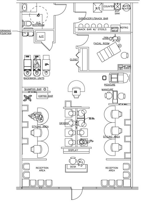 Hair Salon Floor Plans by Salon Floor Plan Design Layout 1533 Square Foot