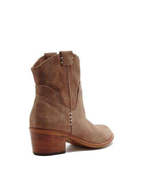 dolce vita ankle boots dolce vita grayden suede ankle boots in brown taupe lyst