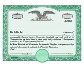 Printable Stock Certificate Template by Stock Certificate Designs Certificate Templates