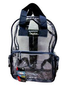 Nautilus New School Backpack Navy clear backpack navy see through security plastic sports