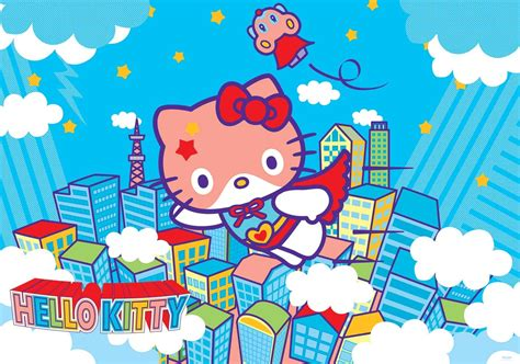 hello kitty wallpaper mural hello kitty wall paper mural buy at europosters