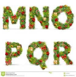 mnopqr christmas tree font stock photos image 17325723