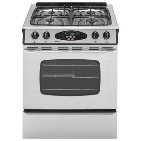 maytag 4 5 cu ft slide in gas range stainless steel