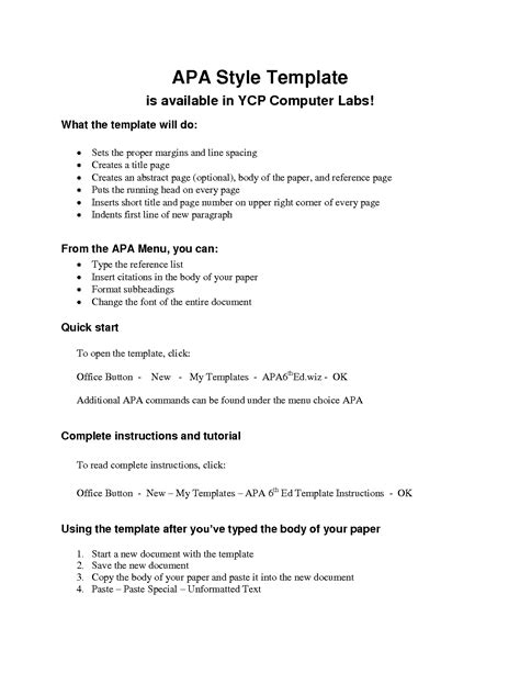 Apa Essay Format Template by Apa Outline Template Lisamaurodesign