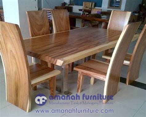 Jual Meja Kayu Utuh jual meja makan kayu utuh trembesi solid amanah