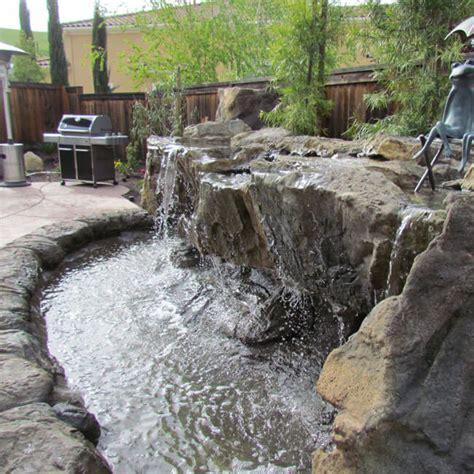 backyard water features ponds waterfalls in ellicott
