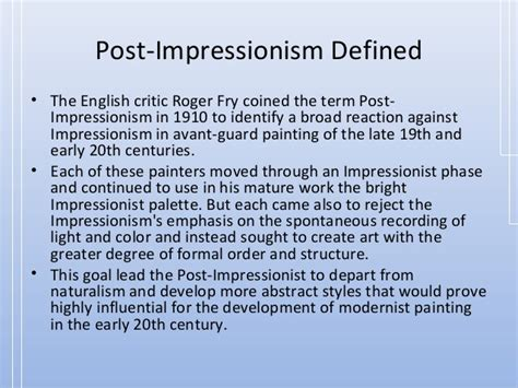 01 impressionism post impressionism