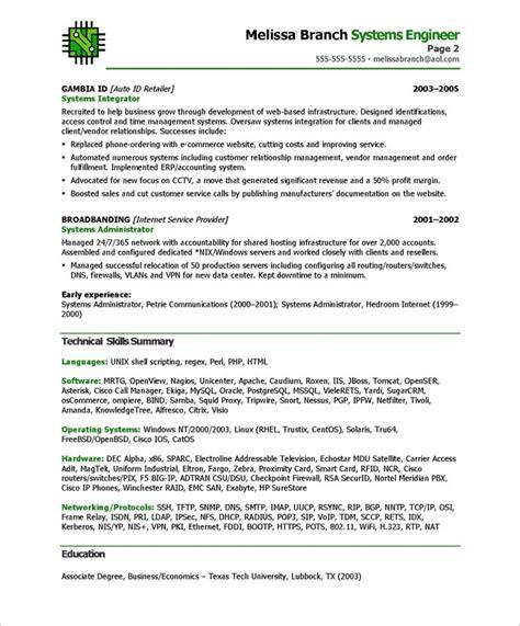 top 8 senior systems engineer resume samples