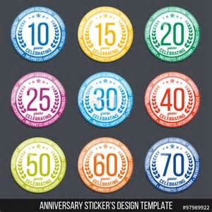 10 year anniversary color quot vector set of anniversary color signs symbols 10 15
