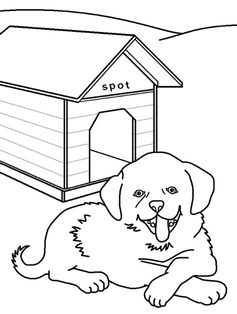 dog house coloring page free part of the house coloring pages