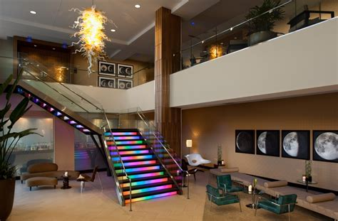 beautiful effect rainbow stairs design pictures