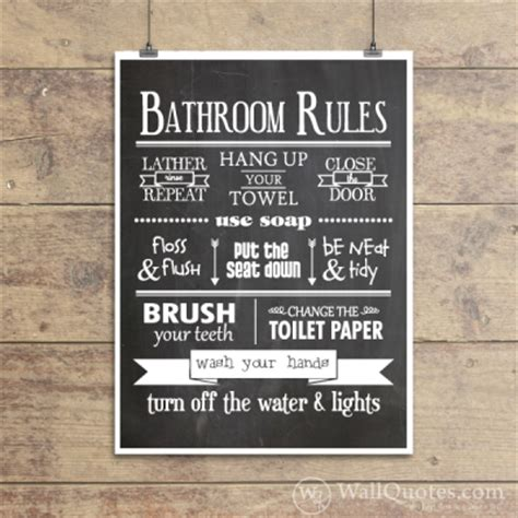 public bathroom rules bathroom rules classic wall quotes gicl 233 e art print