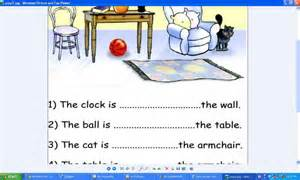 simple preposition worksheets