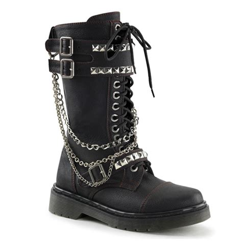 rage combat boots rival 315 studded combat boots demonia shoes