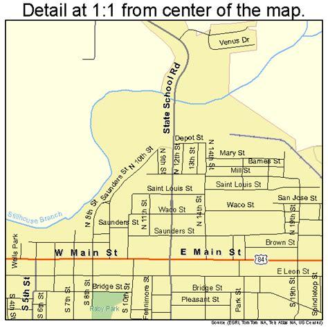 gatesville texas map gatesville texas map 4829168