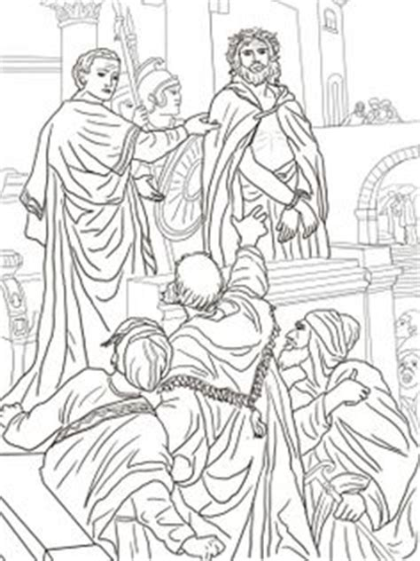 coloring page jesus arrested jesus arrested crucified on bible coloring