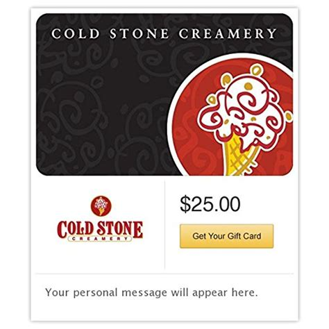Coldstonecreamery Com Gift Card Balance - awardwiki cold stone creamery gift cards e mail delivery
