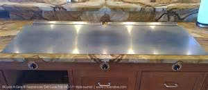 built in griddle cooktop outdoor kitchen teppanyaki grill electric built in tepan