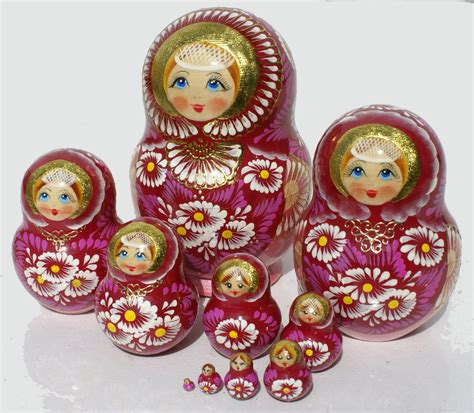 Handmade Russian Dolls - russian dolls for sale wooden souvenirs bright color