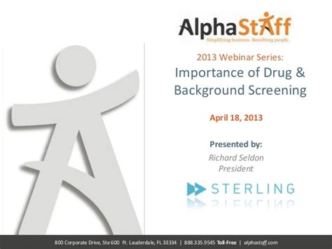 Adp Background Check Login Alphastaff Webinar Importance Of And Background Screening