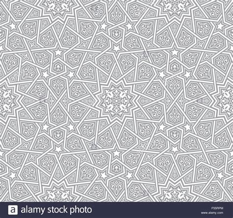 pattern in islamic art vector islamic ornament grey vector background stock vector art