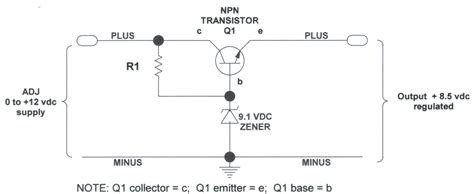 voltage regulator using zener diode and bjt gt circuits gt voltage regulators l29980 next gr