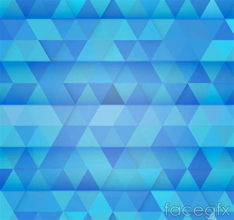 blue triangle pattern vector background blue triangle mosaic background vector over millions