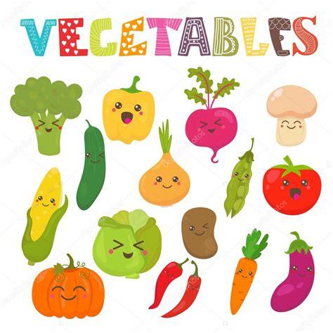 imagenes de comida saludable kawaii cute kawaii smiling vegetables healthy style collection