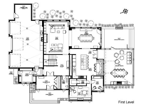 modern house floor plans cottage house plans