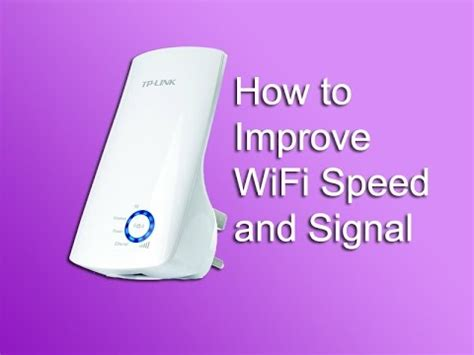 how to improve wifi speed and signal