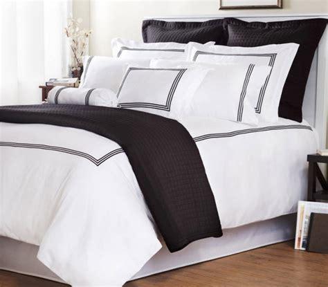 White Bedding With Black Trim white comforter with black trim choozone