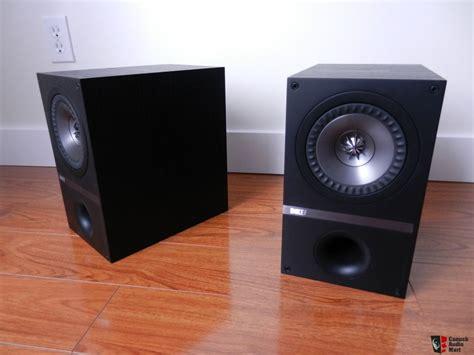 Kef Q100 Speaker Bookshelft For Stereo kef q100 black photo 877082 canuck audio mart