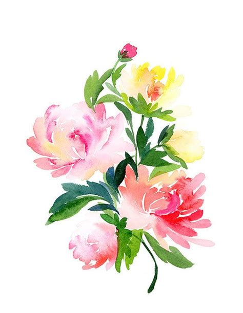 printable watercolor flowers 187 best images about ideas flowers painted rocks on