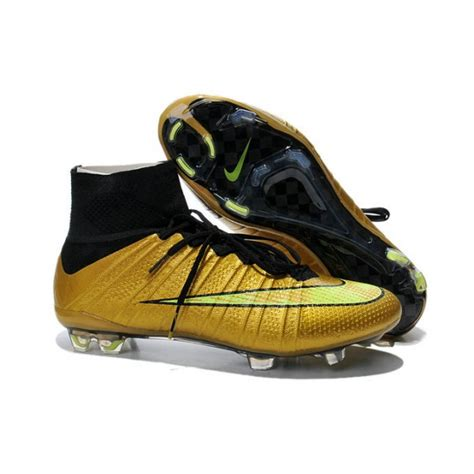 gold football shoes nike football cleats cheap 2014 mercurial superfly 4 fg