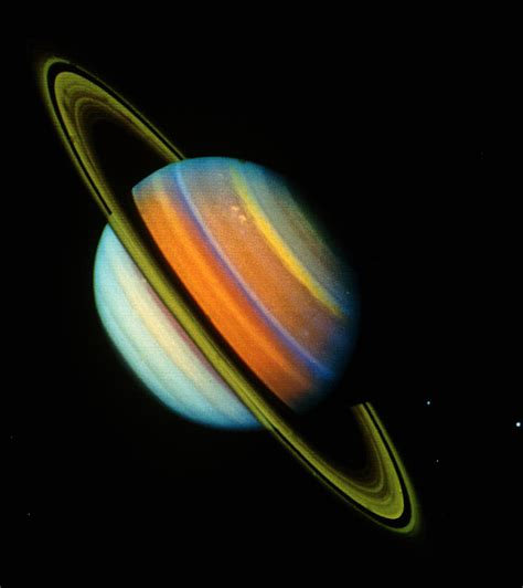 voyager pictures of saturn voyager 2 image of saturn its rings photograph by nasa