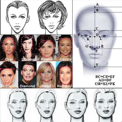 hair for diffrent head stylenoted face shape