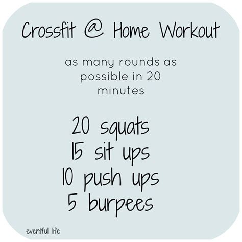 best 25 crossfit home workouts ideas on