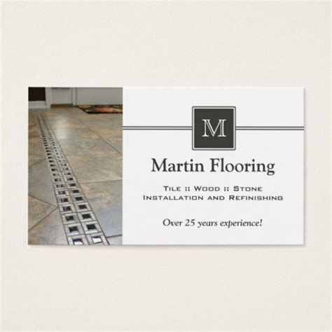 business card monogram template tile flooring custom monogram business card zazzle