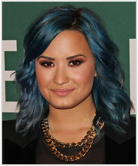 demi lovato s jewel tone hairstyle and makeup to match