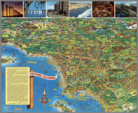 california tourist attractions map map of tourist attractions in southern ca pictures to pin