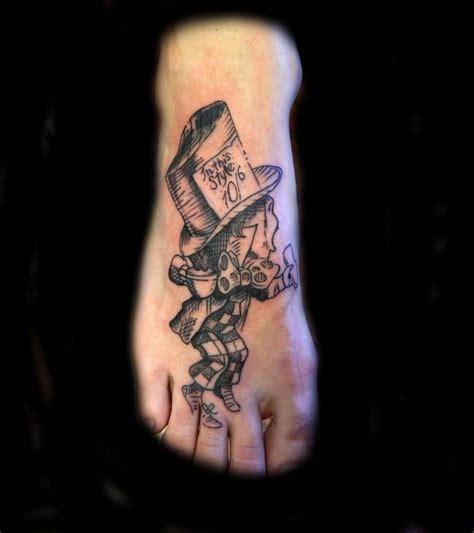 mad hatter tattoo lucky bamboo tattoos black and gray mad