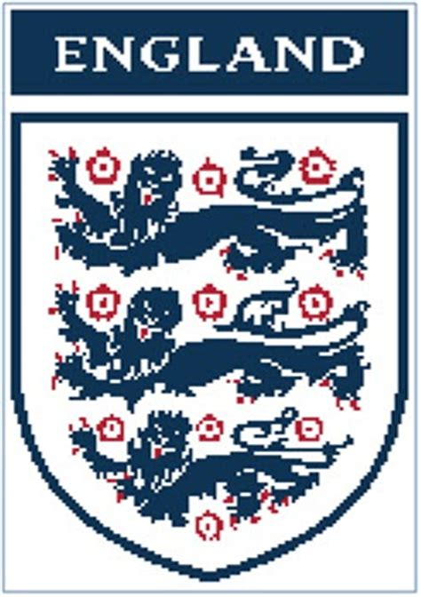 pattern of three english easy patterns england fa cross stitch pattern